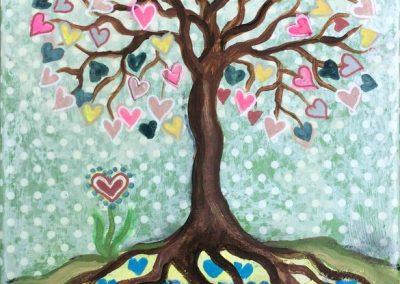 Tree of love (pastel)