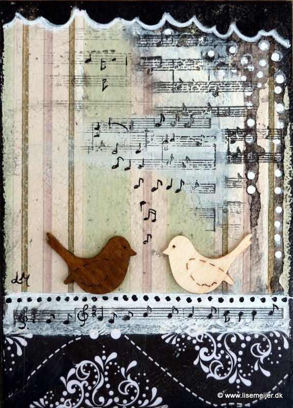 """The music between us"" - mixed media on canvas, 13 x 18 cm SOLD"