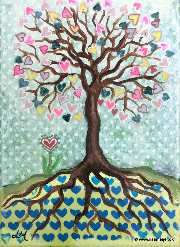 Tree of love (pastel)