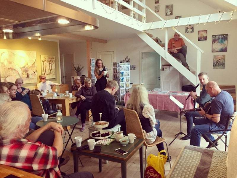 Glimpses from Open house with Art, Coffee and Irish Music